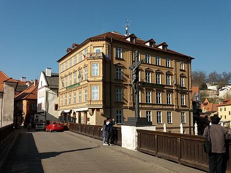 Dům čp.101 vRadniční ulici, poslední adresa rodiny Ebenovy vČeském Krumlově