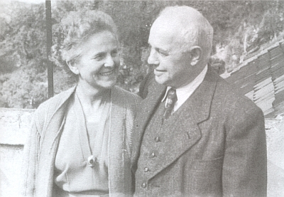 Rodiče Marie a Vilém Ebenovi na snímku někdy kolem roku 1955