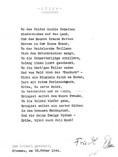 """Jeho báseň pro """"Erikerl"""""""