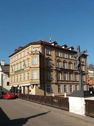 Dům čp.101 vRadniční ulici, jedno z bydlišť rodiny Ebenovy vČeském Krumlově