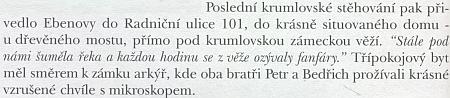 O poslední českokrumlovské adrese bratří Ebenů