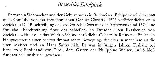 Medailon Edelpöckův mezi zasloužilými Budějovičany