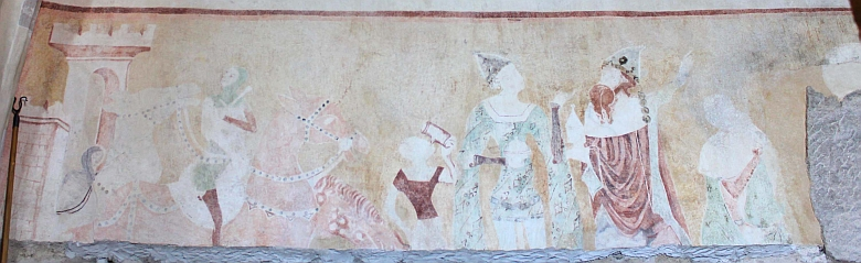 Malba Klanění Tří králů krátce po odkrytí