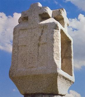 Boží muka na návsi v Žumberku, stav v roce 2009