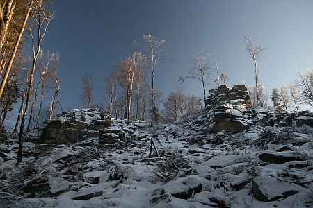 Vrchol Slepice (Vysoký kámen) dnes