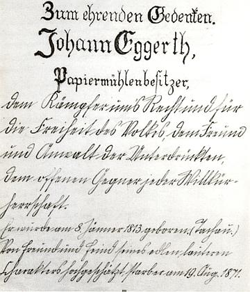 """I tento oslavný přípis památce jeho bratra Johanna zdůrazňuje, že byl """"bojovníkem za práva a svobodu lidu, přítelem a zastáncem utlačovaných a otevřeným odpůrcem každé zvůle"""""""