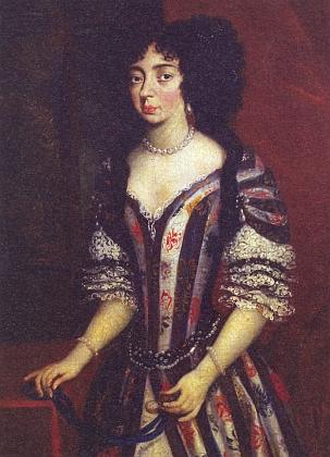 Portrét její a jejího manžela Johanna Christiana (1641-1710), svého muže přežila o 9 let