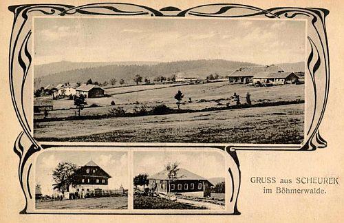 Scheurek na Seidelově pohlednici