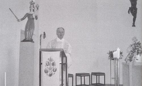 Při kázání v rodných Hamrech roku 2009
