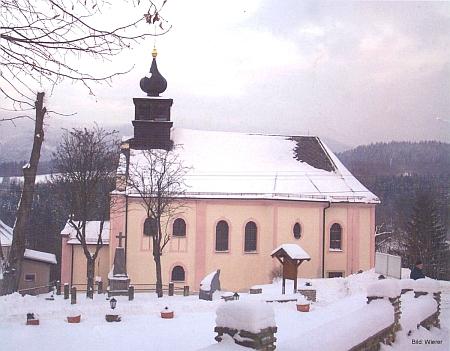 Farní kostel v Hamrech