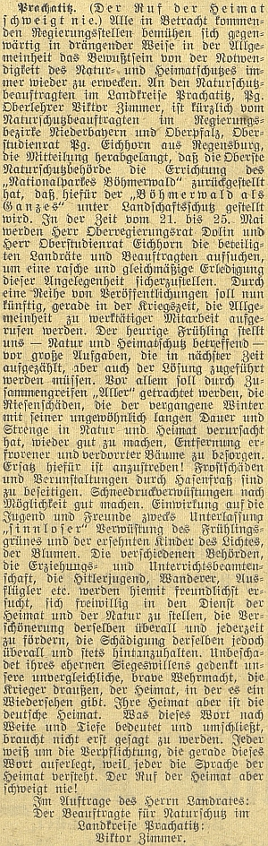 Celý text článku Viktora Zimmera, citujícího Eugena Eichhorna