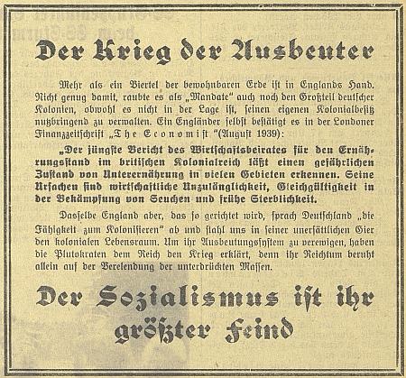"""Takto přemýšleli tehdy ještě v paktu se Stalinem: """"Válka vykořisťovatelů"""" a """"Socialismus je jejich největším nepřítelem"""""""
