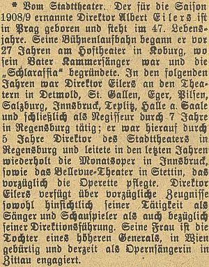 O něm na stránkách českobudějovického německého listu