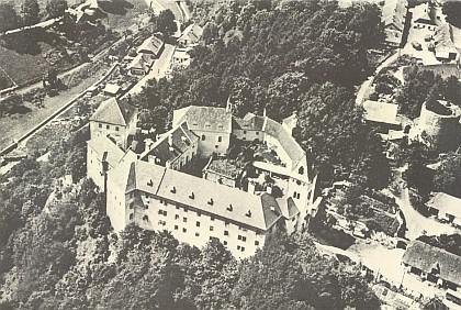 Vimperský zámek z ptačí perspektivy