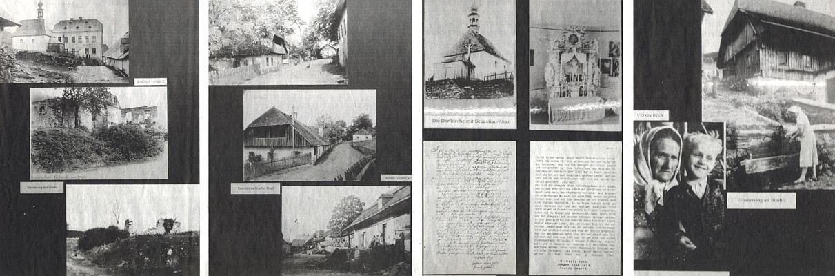 Několik panelů z její výstavy o Stodůlkách