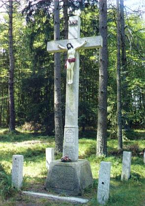 Kříž na cestě mezi Pohorskou Vsí a Lužnicí