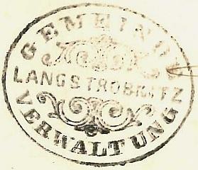 Úřední razítko obce Dlouhá Stropnice z roku 1881