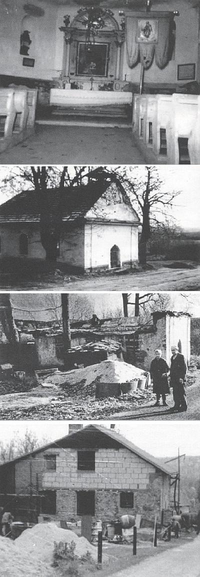 ... a kaple sv. Vavřince v blízké Lužnici, postavená v roce 1891, která byla 100 let nato přebudována na obytný dům...