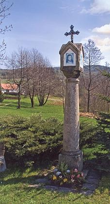 Boží muka v Šejbách na snímku z roku 2009