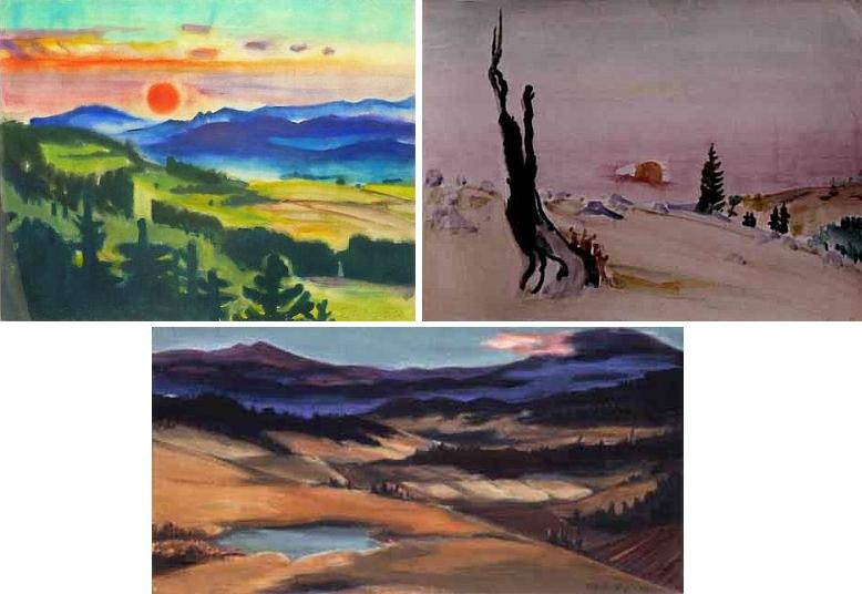 Tyto tři jeho obrazy spojuje týž námět - je jím Bavorský les