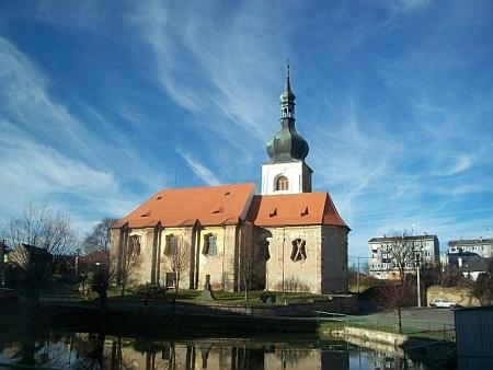 Kostel sv. Markéty v Erpužicích, kde byl pokřtěn