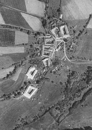 Záhliní na leteckých snímcích z let 1949 a 2008