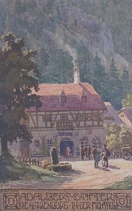 Hrad bláznů ve Fichtau, jak jej zachytil na své pohlednici Ernst Kutzer