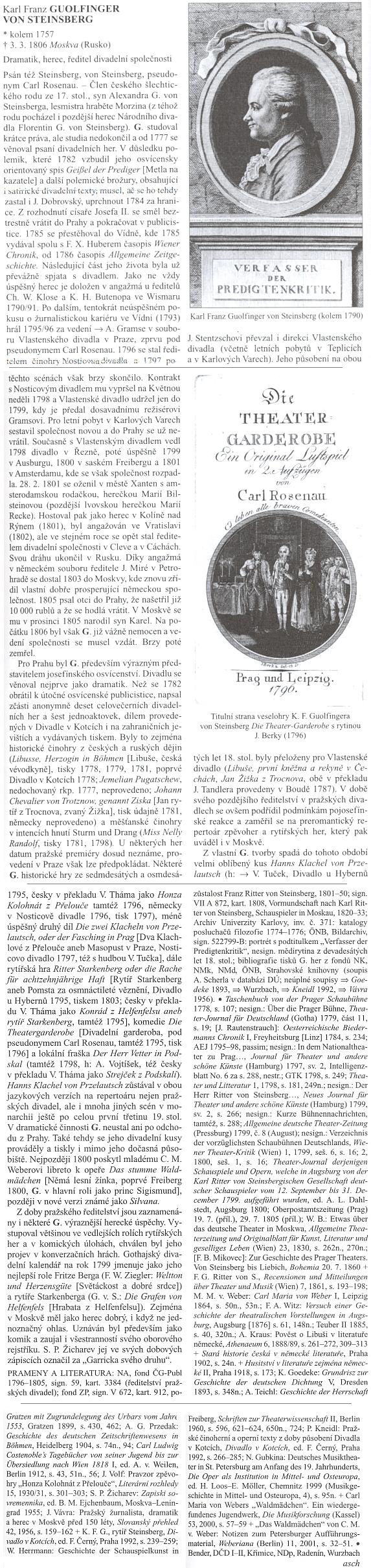 Adolf Scherl je autorem hesla Guolfingerova v české divadelní encyklopedii