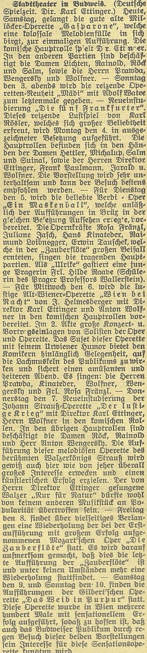 Referát v českobudějovickém německém listu