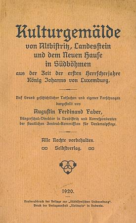 Obálky jeho knih vlastním nákladem vydaných knih (1919 a 1920)