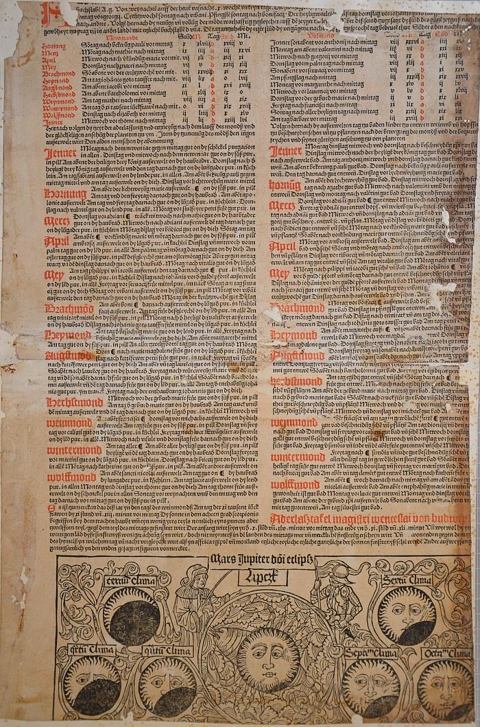 Jeho minuce z konce 15. století (Almanach Lipsiense ad annum 1492)