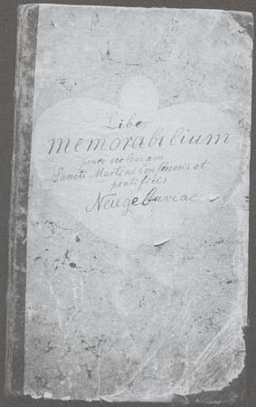 Desky pamětní knihy knihy novosvětské fary a strana s Fantovým zápisem