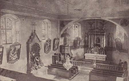 Interiér někdejšího kostela v Novém Světě