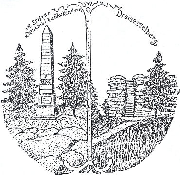 """Logo sdružení """"Deutsch-Böhmen Bruder-Bund"""" z dopisu, datovaného 16. prosince 1919 v Saint Paul, Minnesota, podepsaného předsedou sdružení Josephem Faschingbauerem a provázejícího zásilku ošacení pro chudé děti farnosti Glöckelberg (dnes Zvonková) - na rub dopisu připsal farář Dr. Alois Essl, že zásilka došla až 29. listopadu 1920(!) do Horní Plané, připojil pak i data narození Josepha Faschingbauera ve Zvonkové 13. února 1869 a také jednoho dalšího z podepsaných Adolpha Faschingbauera ve Zvonkové 23. dubna 1874"""
