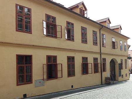 Dům čp. 174 v prachatické Horní ulici, kde žil a zemřel