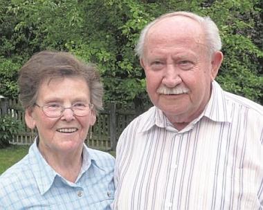 Arminovi rodiče Ottilie a Rupert Fechterovi, zde na snímku z roku, kdy slavili svou diamantovou svatbu