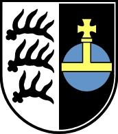 Znak jeho rodného města Backnang...