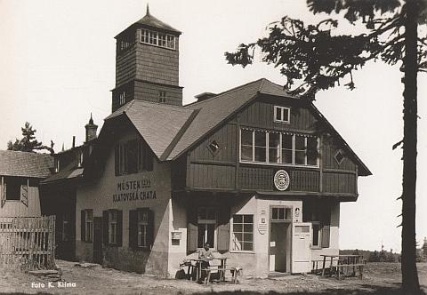 Jiná pohlednice někdejší chaty na Můstku