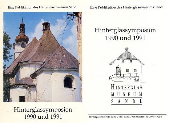 Obálka a titulní list publikace (2007, Hinterglass Museum, Sandl), kterou redigoval, barevný snímek zachycuje kostel v Pohoří na Šumavě v roce 1990