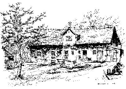 Jeho rodný dům v Schönbühlu na vlastní kresbě