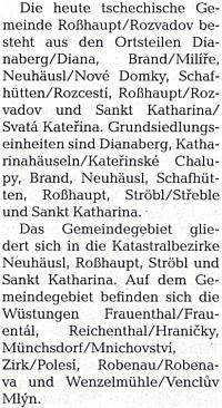 Německá a česká místní jména Rozvadovska