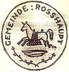 Obecní typář Rozvadova z 19. století