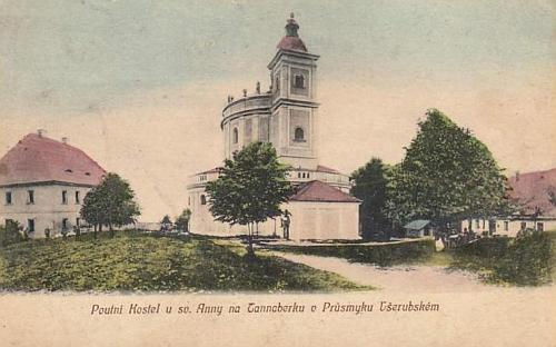 Poutní místo u sv. Anny na Tanaberku na staré pohlednici