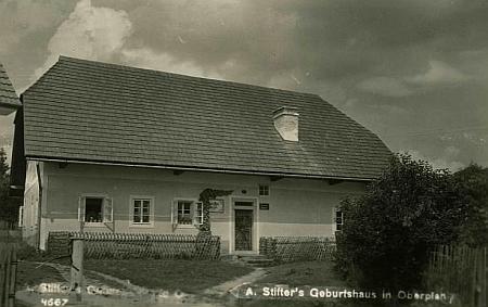 Rodný dům Adalberta Stiftera v Horní Plané na fotografii Franze Seidela