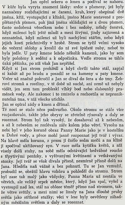 Z povídky Popsaná jedlička v českém překladu Anny Siebenscheinové