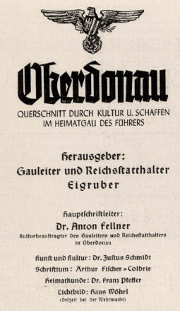 Z tiráže časopisu, jehož vydavatelem byl v letech 1941-1943 nacistický gauleiter Eigruber (popraven Američany v roce 1947) vyplývá, že Fischer-Colbrie byl odpovědný za jeho literární náplň