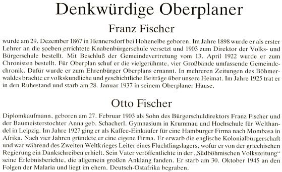 Otec a syn Fischerovi na stránkách Esslovy monografie Horní Plané