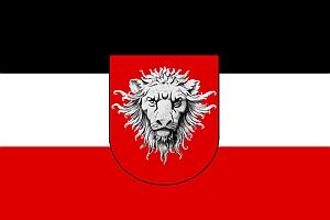 Znak a vlajka Německé východní Afriky, která ovšem byla už za první světové války obsazena vojsky Trojdohody