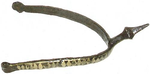 Ostruha nalezená roku 1938 na Vysokém Bogenu a ukovaná snad už na přelomu 12. a 13. století, někdy včasech, kdy erb se symbolem routy, na ostruze zobrazeným, začal nosit rod hrabat z Bogenu a routa se stala znakem celých Bavor
