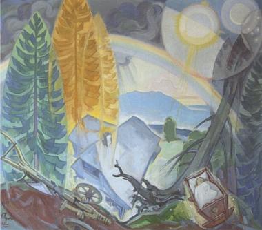 Obraz Lothara Sperla z pozdější malířovy tvorby nese název Zrod a zánik